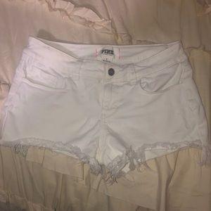PINK Victoria's Secret Shorts - Pink VS White Denim Shorts